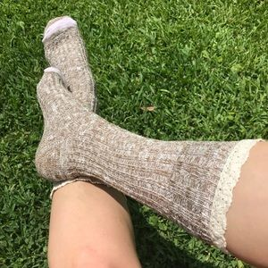Accessories - Lacey Brown Boot Socks